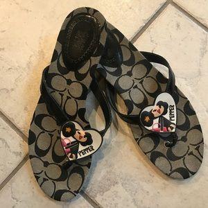 Coch Poppy Flip Flops